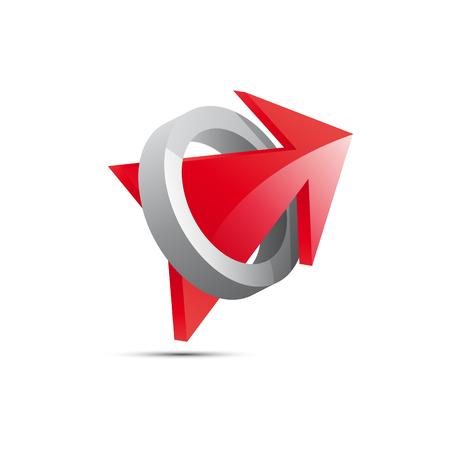 red arrow: Vector red Arrow, inside ring