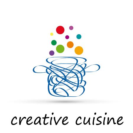 Vector abstract Cuisine créative