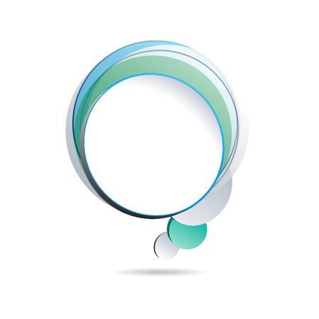 blue bubbles: Vector cover speech in blue