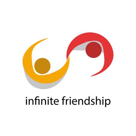 pacto: Vector de la muestra de amistad infinito