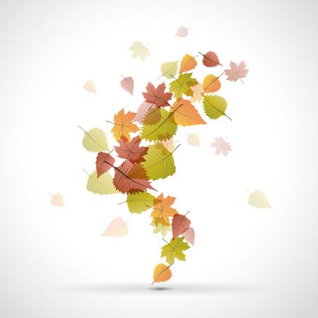 dode bladeren: Vector dode bladeren, herfst achtergrond