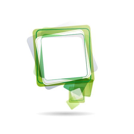 talk bubble: Vector cover speech in green