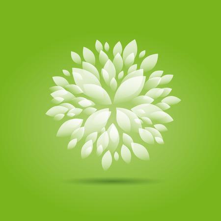 eg: Vector Green Floral background