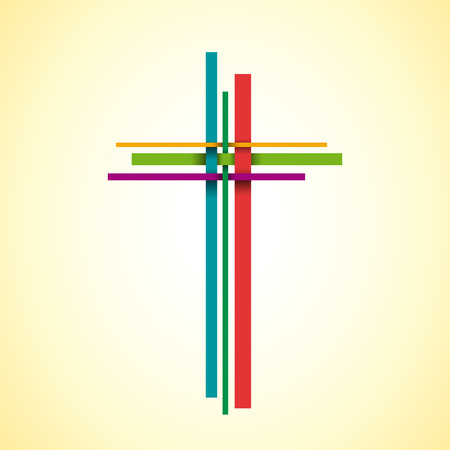 Vector abstract Christ crucifix Illustration