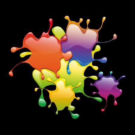 varnish: Colored varnish splashes