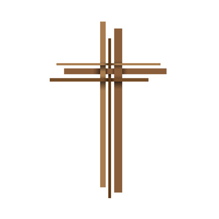 kruzifix: Vector abstract Christus Kruzifix Illustration