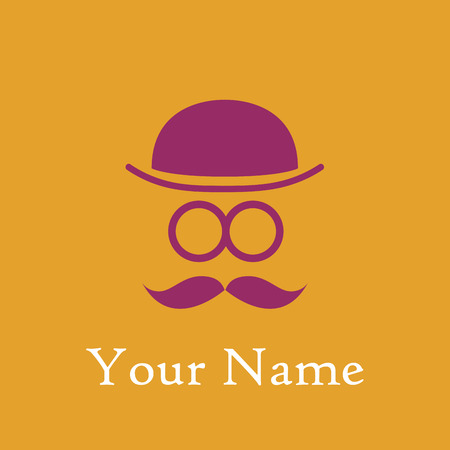 man with bowler hat and mustache