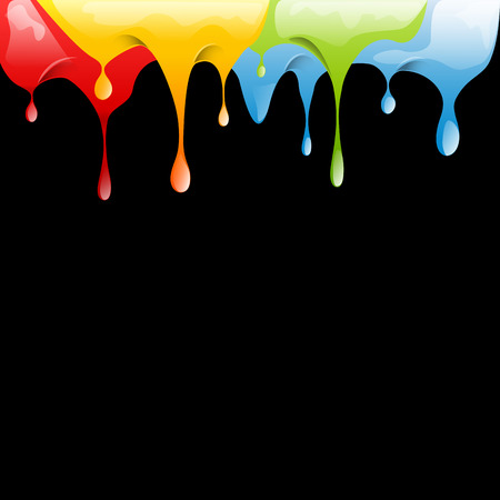 varnish: Colored varnish dripping Illustration