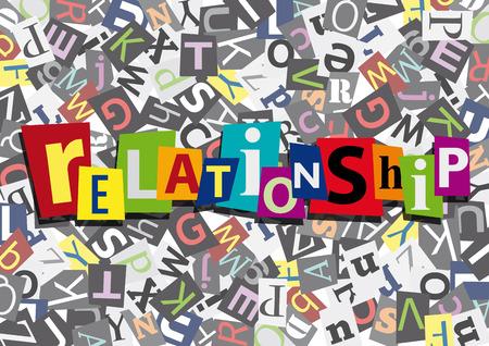 Beziehung in flaches Design Vektorgrafik