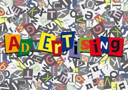 advertising design: advertising in flat design Illustration