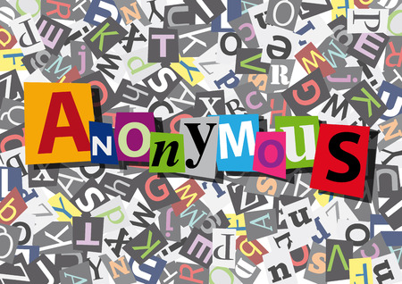 anonymous: anonymous  in flat design