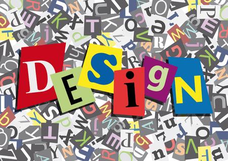 La conception dans la conception plate Banque d'images - 61157330