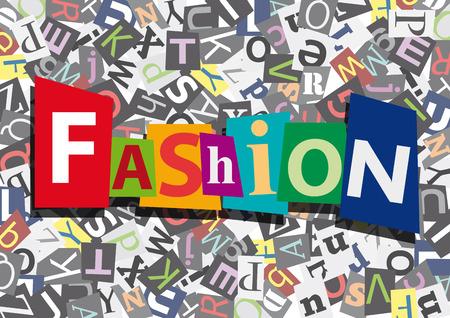 fashion design: fashion in flat design