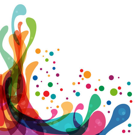 abstract shape: Colored splashes in abstract shape