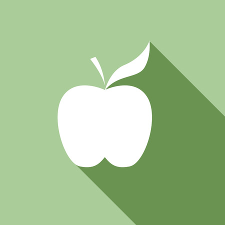 greengrocer: apple. Vector in flat design