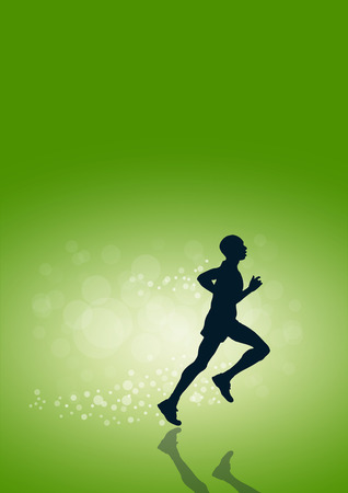 participate: Vector running background in green Illustration