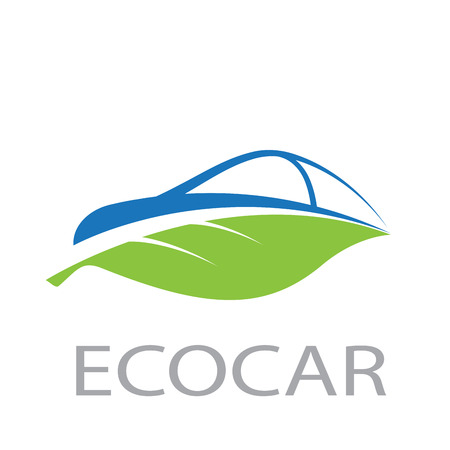 Vecto abstract eco car Illustration