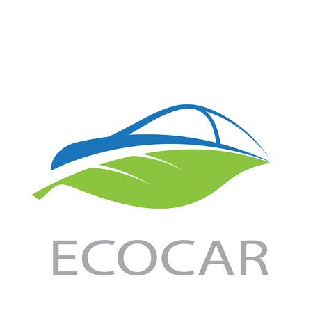 Vecto abstract eco car Stock Illustratie