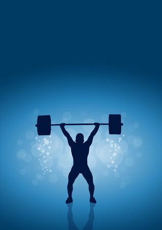 levantamiento de pesas: Vector de la muestra gimnasio. Levantamiento de pesas
