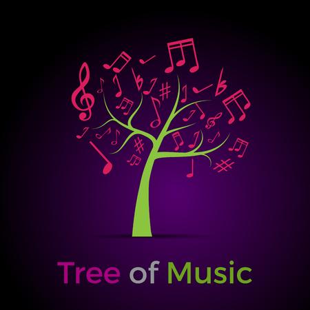 portadas de libros: Extracto del árbol de la música, de fondo Vectores