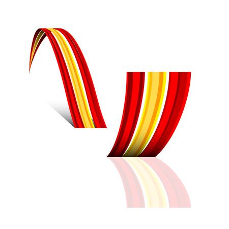 spanish flag: Abstract vector wave spanish flag Illustration