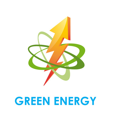 electricity company: Vector icon Green Energy