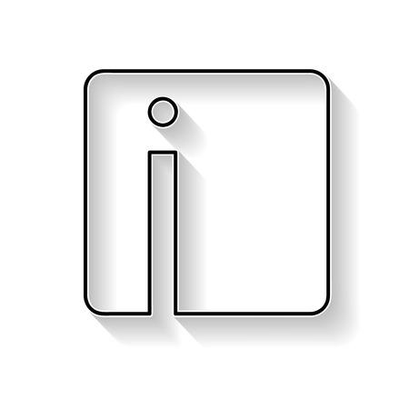 Vecteur initial lettre I. Signe fait avec ligne noire