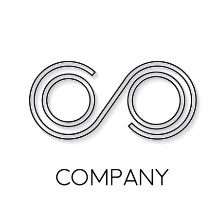 convergence: Vector sign abstract friendship infinity, in linear style Illustration