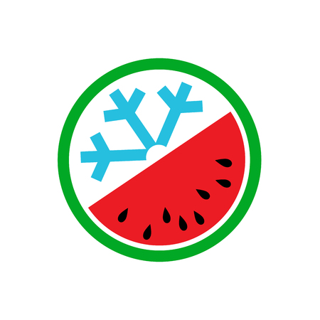 greengrocer: Vector summer concept, greengrocer, watermelon