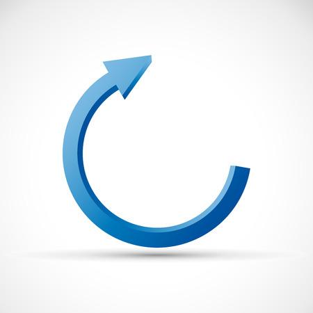 blue arrow: Vector 3D Blue Arrow Background