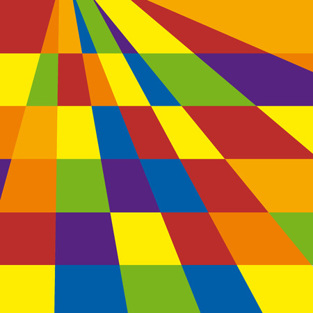 chessboard: Abstract geometric artwork, chessboard colored Illustration