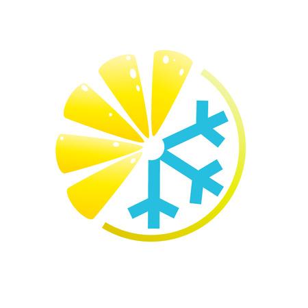 aperitif: Vector logo lemon, summer drink