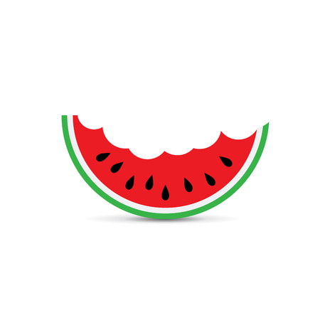 Vector sign watermelon, greengrocer