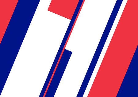 artwork: Abstract geometric artwork, french and english flag concept