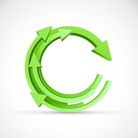 green arrows: Vector 3D green Arrows Background