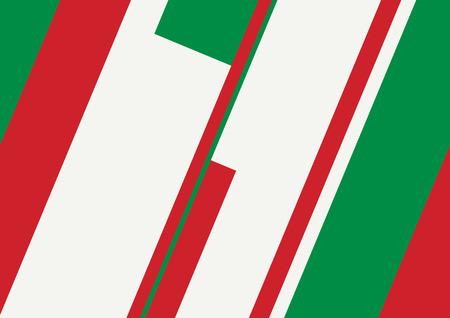 drapeau mexicain: Illustration abstraite géométrique, italien et concept de drapeau mexicain