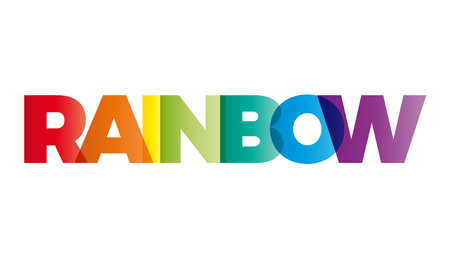 The word Rainbow. Vector banner with the text colored rainbow.