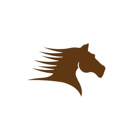 brown horse: Vector sign brown horse Illustration