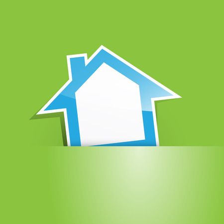 pocket: Vector green house in the pocket