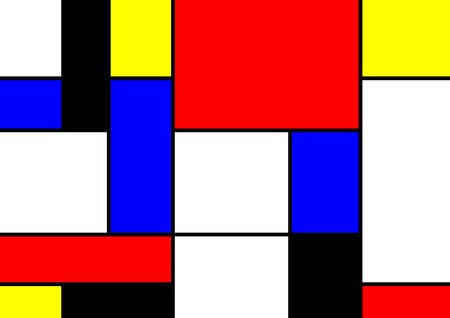 mondrian: abstract geometric colorful vector pattern