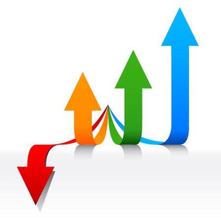 fiscal: Concept Fiscal developments, arrows growing Illustration
