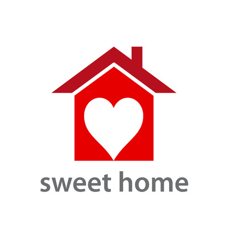 sweet heart: Vector concept Sweet home