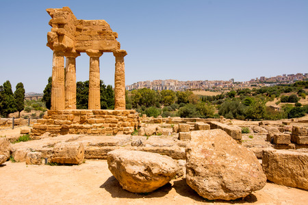 Valley of Temples, Agrigento Sicily in Italy.
