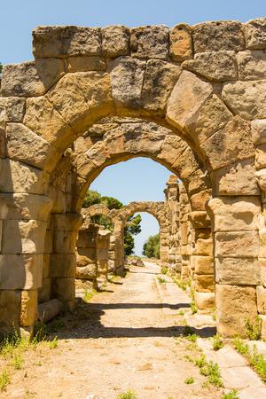 view ancient  roman city of Tindarys, Sicily Banco de Imagens