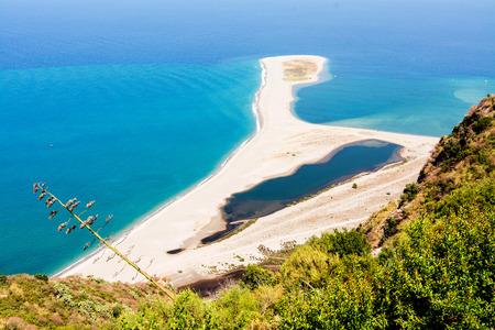view of tindari beach in sicily