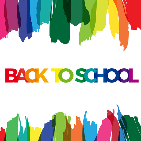 beginnings: colorful text back to school Illustration