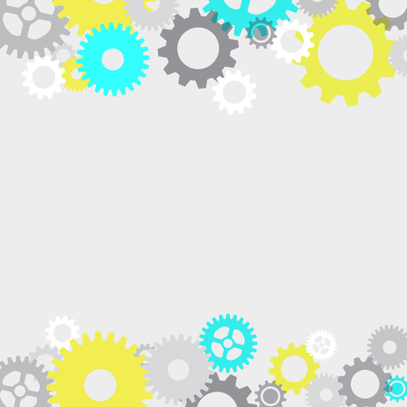 screwing: Vector abstract gears background Illustration