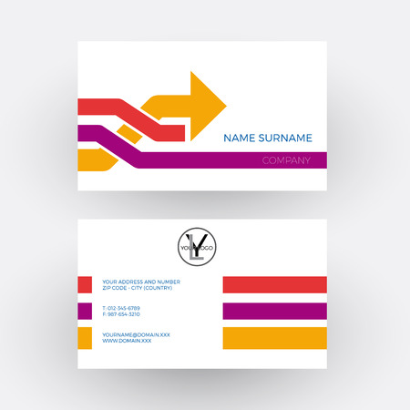overtaking: Vector abstract arrow, concept of overtaking. Business card