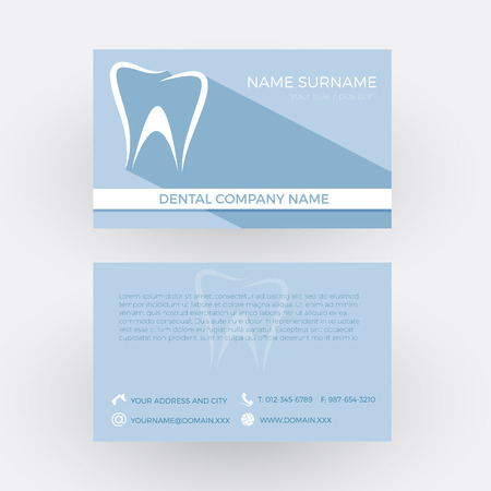 abstract tooth: Vector Abstract tooth, concept of dentist. Business card Illustration