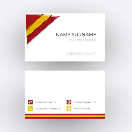 corner flag: Vector Abstract Corner with Spanish flag. Business card